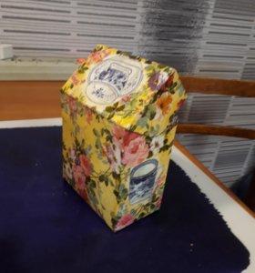 Домик коробка для чая в пакетиках