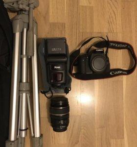 Canon 600D + Canon 17-85 EFS + вспышка + штатив