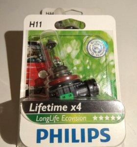 Лампа галогенная PHILIPS H11 LongLife EcoVision