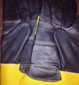 Спецодежда. Перчатки летние кожаные вставки 3ш.