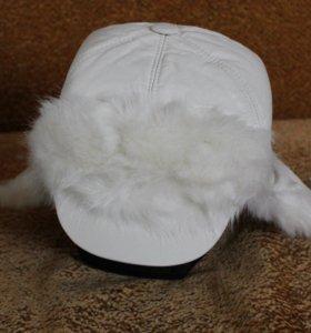 Тёплая зимняя меховая шапка-ушанка