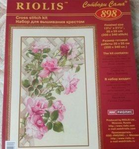 Набор для вышивания крестиком Риолис Розовые розы