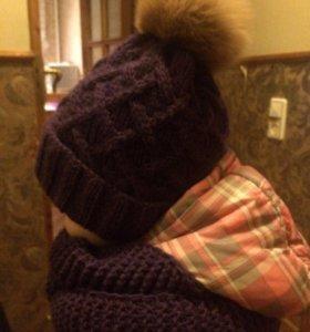 Зимняя шапка + снуд. На заказ