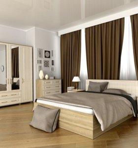 Кровать 160/200 мдф вставка с ящиком для белья