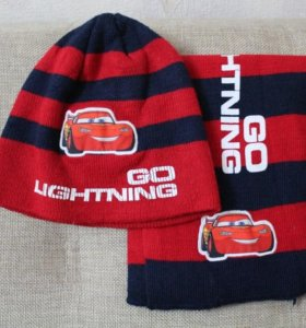 Комплект детская шапочка с шарфом