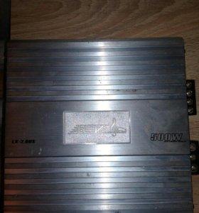Усилитель аудио для авто  500ват двух канальный