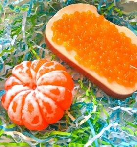 Мыло мандарин и икра
