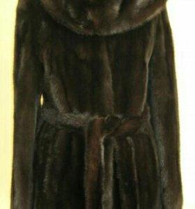 Норковая шуба 44р