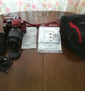 Nikon D3200 KIT + 18-55VR Red