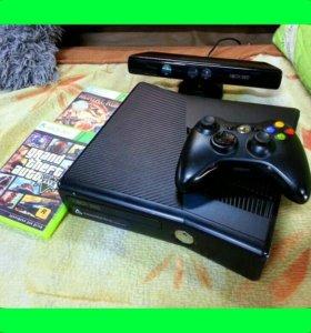 Приставка Xbox 360 + 2 игры