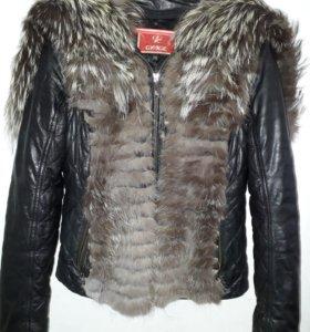 Кожанная зимняя куртка.