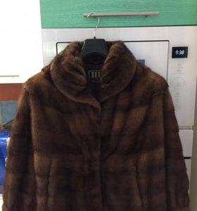 Норковый куртка-шуба-манто HB by Centropel