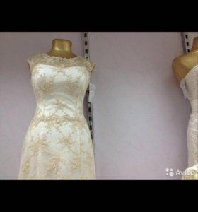 Платье свадебное и шубка