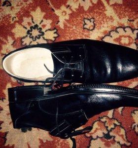 Армейские туфли,кожа