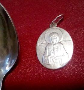 Кулон матрона серебро 925