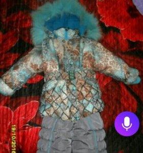 Зимний костюм на девочку,тройка