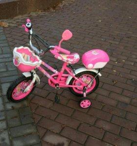 Велосипед 4-х колесный для девочки