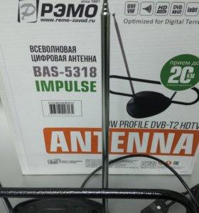 Новинка! Комнатная антенна с усилителем /DVB-T2