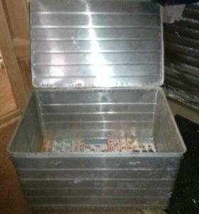 Ящик алюминиевый для хранения продуктов
