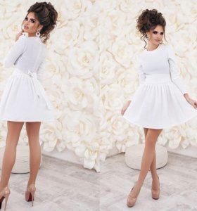 Платье из жаккарда нарядное с подъюбником 01360