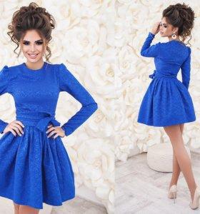Платье из жаккарда нарядное с подъюбником 01361