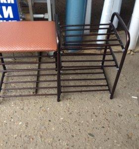 Этажерка для обуви с сиденьем