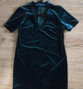 Платье бархатное xs