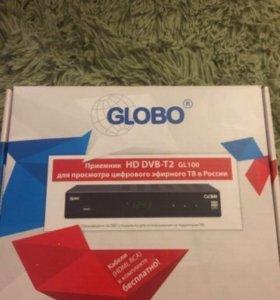 Приёмник hd dvb-t2 gl100 для просмотра цифр. Tv