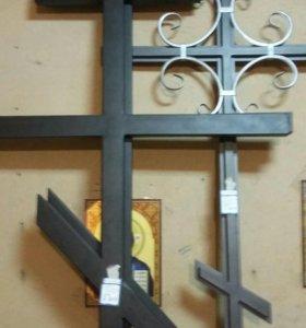 Ограды,кресты,столы,лавки.