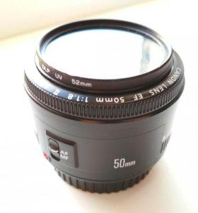 Продам объектив Canon ef 50mm 1.8