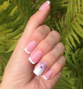 Наращивание ногтей гель-лак покрытие