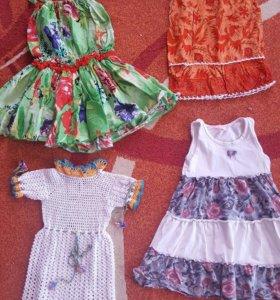 4 платья на 2-4 года