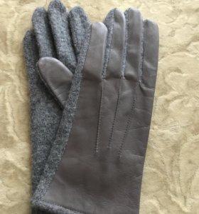 Перчатки Нат кожа и шесть