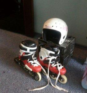 Шлем и ролики