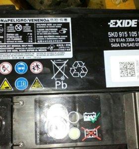 Новый аккумулятор Vag original Exide