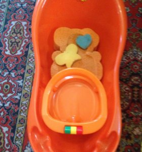Детская ванна, стульчик , лежак в ванну