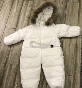 Зимний пуховой комбинезон для мальчиков и девочек