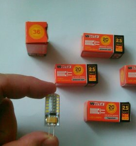 Светодиодные лампочки wolta g 4, 20w.
