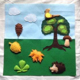 Детские развивающие коврики из фетра