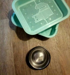 Новый Лоток для кошки и миска