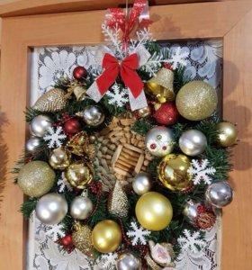 Рождественский, Новогодний венок. Новый.