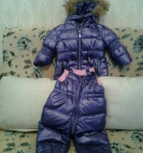 Куртка для девочки тёплая и сапоги зимние