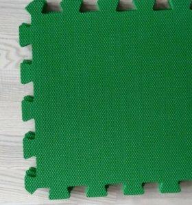 Ковер пазл зеленый 35×35