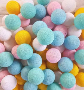 Хлопковая гирлянда (Cotton ball) Шарики круглые