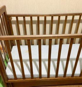 Кровать БУ (матрас новый, 4 месяца в использовании