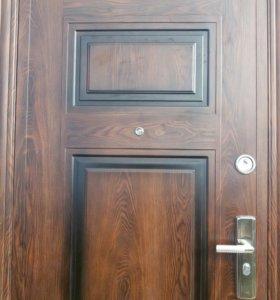 Дверь металлическая от застройщика