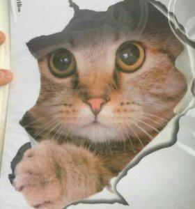 Наклейка-котейка. Реалистичная.