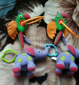 Игрушки на коврик развивающий