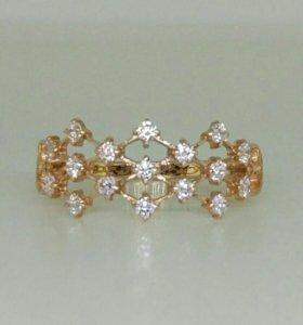 Новое золотое кольцо 585 пробы