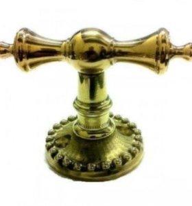 Каминная ручка для шибера дымохода латунная